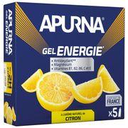 Lot de 5 gels Apurna Energie Citron - 35g