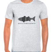 T Shirt Col Rond Imprime Code Bar