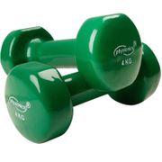 2 haltères vinyle Fitness poids 2 x 3 kg sport fitness musculation Helloshop26 0701018