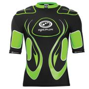 Optimum Inferno Rugby Body Protection Shoulder Pads Black/ Green