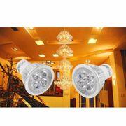 Lampe pour croissance plante- GU10 4W 350LM Ampoule de Projecteur, 4 de la Puissance Élevée LED, Lumière Blanche Chaud
