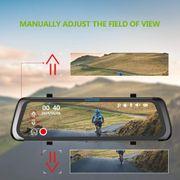 Dashcam camera dvr auto- HG91 9.88 pouces 170 Degrés grand Angle HD Double Miroir Dash Vidéo DVR de Voiture
