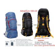 ADVENTURE 100 + 20 L- sacs à dos de 100 L à 120 L - sacs à dos trek 1 à 5 jours