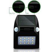 Lampe solaire HD0,8 W RVB Tête à Double Énergie Solaire de Capteur de Mouvement de LED, 12 Led SMD 5050 Extérieure de la Paroi d