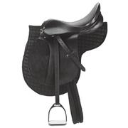 Kerbl Selle de poney en cuir Noir 32196