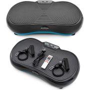 Elitum PX200 Plate-Forme Vibrante Appareil d'Entraînement á Vibrations, 150KG Poids Maximum de l'utilisateur, Télécommande, 2 Expandeurs, Ecran