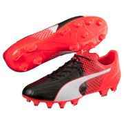 Puma Evospeed 3.5 Leather Fg rouge, chaussures de football homme