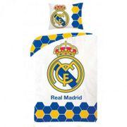 Housse de couette Real Madrid 140 x 200 cm  - unique blanc