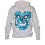 Sweat-shirt à capuche motif tête de mort - 9573 - unisexe