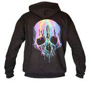 Sweat-shirt à capuche motif tête de mort - 1257 - unisexe
