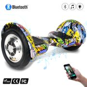 COOL&FUN Hoverboard 10 pouces avec Bluetooth, Gyropode  Overboard Smart Scooter, Hip