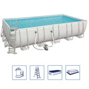 Bestway Ensemble de piscine Power Steel Rectangulaire 56470