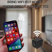 Caméra de sport-23 Ultra-Mini DV Poche WiFi 1080P 30fps Enregistreur Vidéo Numérique 2.0 MP Appareil photo, Caméscope à 30m, Boîtier Étanche,