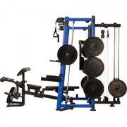 Gorilla Sports - MAXXUS Multipresse 9.1 Smith machine avec banc de musculation et systeme de poulie