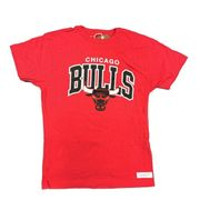 T-shirt rouge homme Chicago Bulls Mitchell & Ness