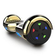 Cool&Fun Hoverboard 6.5 Pouces, Gyropode avec Bluetooth et Pneu à LED de couleur, Overboard Certifé CE, UL, Or/Doré
