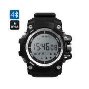 Montre Bluetooth Extérieure - etanche, Altimètre, Thermomètre, Podomètre, Chronomètre (Noir)