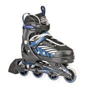 Hudora Inlineskate Leon - Rollers - Noir/Bleu - Taille 33-36