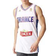 Maillot de Basket  �quipe de France Adidas Performance France Replica Jersey Blanc