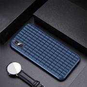 Coque housse pour iphone XS  Décombres de Dessin le Cas Mou de TPU pour l'iPhone XS Max(Bleu Foncé)