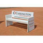 Banc de tennis acier publicitaire Carrington