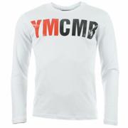 Tee shirt manches longues YMCMB blanc