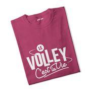 T-shirt fille Le volley c'est la vie
