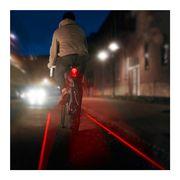 Eclairage vélo arrière avec laser piste cyclable lumineuse