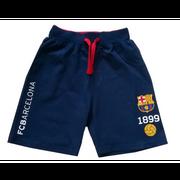 Short FC Barcelone enfant bleu marine officiel