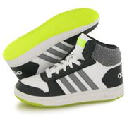 Adidas Hoops Mid 2.0 blanc, baskets mode enfant