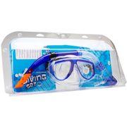 PACK MATERIEL DE PISCINE - PACK MATERIEL PLONGEE  Kit masque et tuba de plongée adulte - Bleu