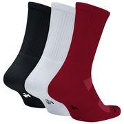 Chaussettes Jordan Crew Noir Rouge blanche 3 paires