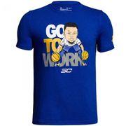 T-shirt pour enfant Under Armour Stephen Curry SC30 Go to work Bleu taille - XS (110-120cm)