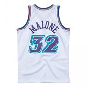 Maillot NBA Karl Malone Utah Jazz 1996-97 Mitchell & ness Hardwood Classic swingman Blanc taille - S