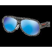 Prada SPS55Q Large Rubber Gunmetal Vert Miroité Bleu