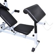 vidaXL Banc d'entraînement avec support de poids jeu d'haltères 120 kg