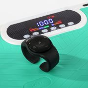 Home Vibration Plate 900 Plus - Plateforme vibrante oscillante - 5 Programmes - 2 Moteurs - Télécommande au poignet - Vert