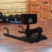 Banc à squat appareil à abdominaux et dos équipement de Fitness hauteur réglable acier noir