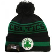 Bonnet NBA Boston Celtics New Era Team Jake avec pompon Noir