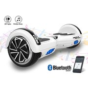 Mega Motion Hoverboard Gyropode 6.5 pouces bluetooth blanc + Housse en silicone protection pour hoverboard  Gyropode 6,5 pouces, bleu jaune