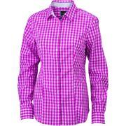 chemisier chemise manches longues FEMME carreaux vichy JN616 - violet pourpre
