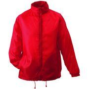 Veste coupe-vent imperméable HOMME FEMME JN195 - rouge
