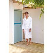 Peignoir de bain - coton velours - K119 - blanc