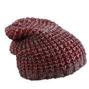 Bonnet tricoté - MB7973 - rouge bordeeu - prune - chiné