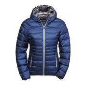 Doudoune à capuche anorak FEMME - 9635 - bleu