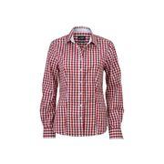 chemisier chemise manches longues FEMME carreaux vichy JN616 - bordeau ( rouge )