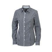 chemisier chemise manches longues FEMME carreaux vichy JN616 - noir