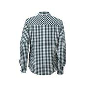 chemisier chemise manches longues FEMME carreaux vichy JN616 - vert forêt