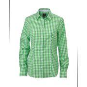 chemisier chemise manches longues FEMME carreaux vichy JN616 - vert