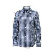 chemisier chemise manches longues FEMME carreaux vichy JN616 - bleu marine
